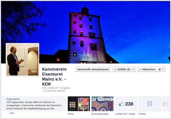 Screenshot KEM auf Facebook