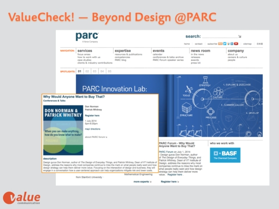 Valeu Check PARC Design Technology Event July 1st, 2014.001