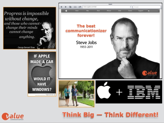valuecheck steve jobs spirit hits our reality we love it valuetrendradar. Black Bedroom Furniture Sets. Home Design Ideas