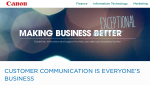 Canon bietet zum Thema Digitale Transformation eine eigene Website mit hochwerfen Fachinformationen für IT, Marketing und Finance.