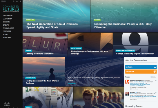 Cisco Online Magazine Connected Futures