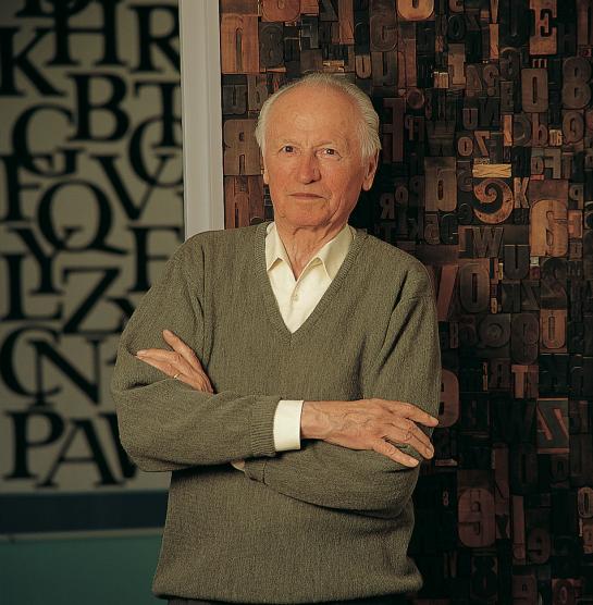 Hermann Zapf zuhause 2003