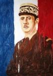 """Gemälde """"Charles de Gaulle"""" von Sid Chidiac"""