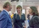 Im Gespräch: Marianne Grosse, Mainzer Kulturdezernentin, Daniela Schmitt, MVB. Foto:Klaus Benz