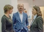 Im Gespräch: Susanne Mull, Jury, Daniela Schmitt, MVB. Foto: Klaus Benz