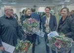 Die Gewinner und Laudatorin Sabine Idstein. Foto: Klaus Benz