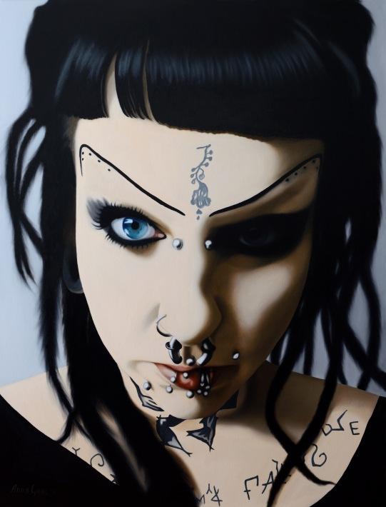 Anna Grau: Lilith 1, Öl/Leinwand, 100x130 cm