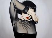 Anna Grau: Lilith 3 (God doesn't exist), Öl/Leinwand, 160x100 cm