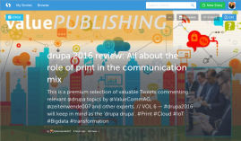 08-drupa2016 Review ValuePublishing Storify on Role of Print in the Communication Mix